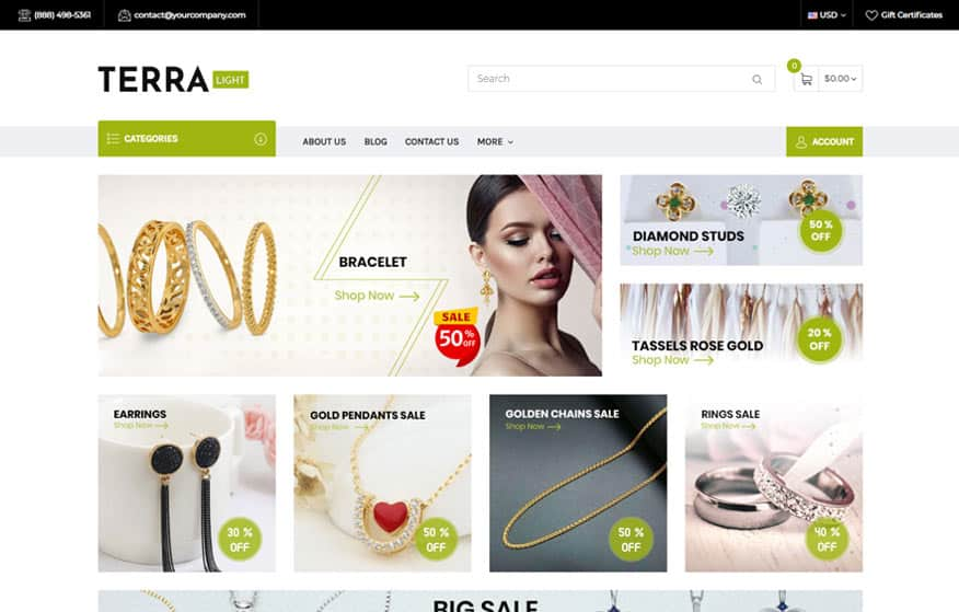 Terra Light BigCommerce Theme
